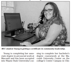 CLP Students and Faculty at Macomb Community College Featured in Tech Center News